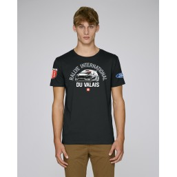 T-shirt Rallye International du Valais homme noir