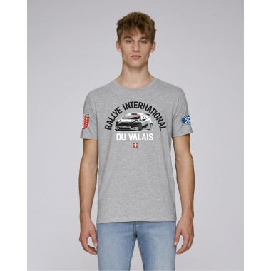 T-shirt Rallye International du Valais homme gris chiné
