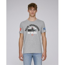 T-shirt Rallye International du Valais homme gris chiné