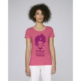 T-shirt Rallye International du Valais femme pink